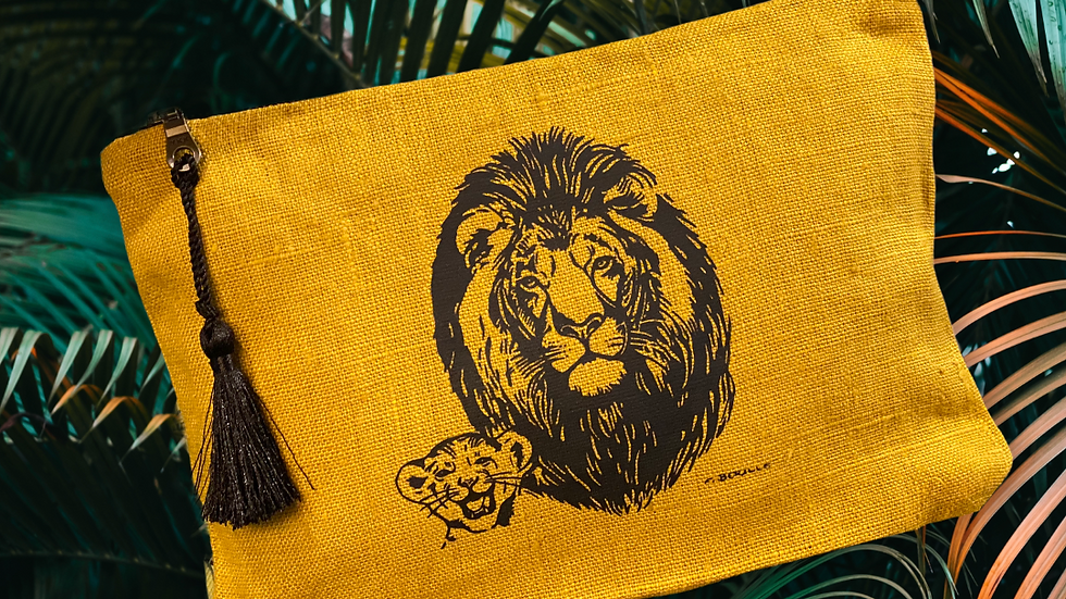 Pochette Savane Lion