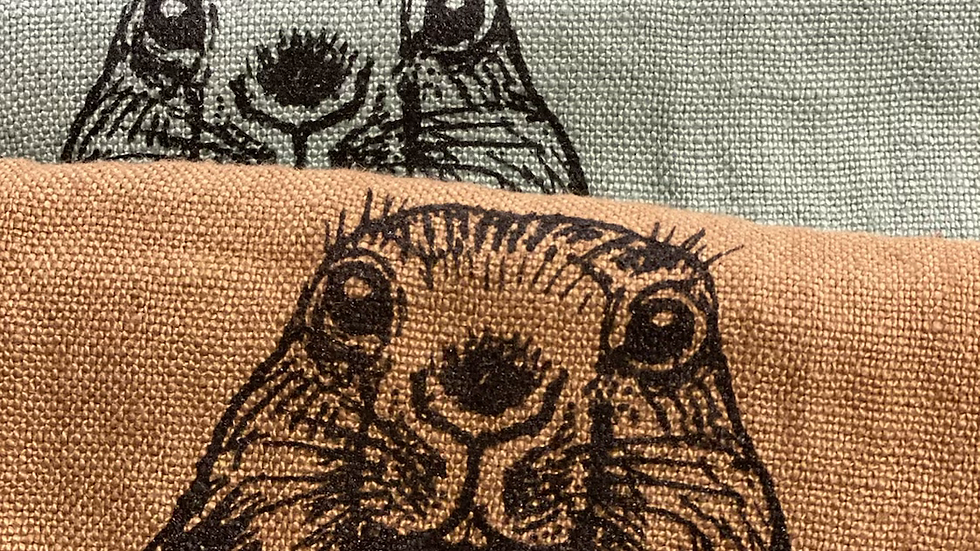 Torchon lin Marmotte