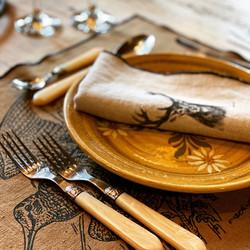 Serviette de table en lin - Cerf