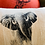 Thumbnail: Coussin carré lin Éléphant