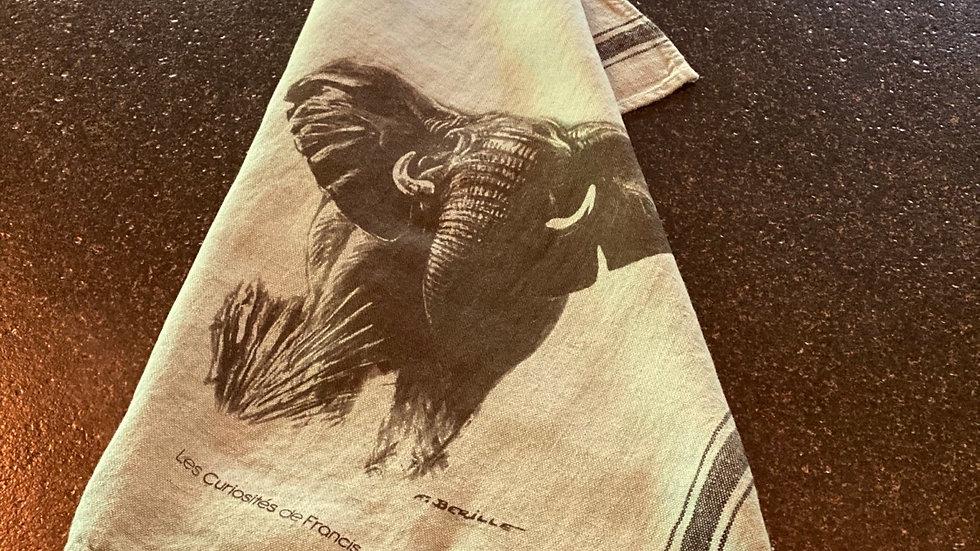 Torchon lin Éléphant
