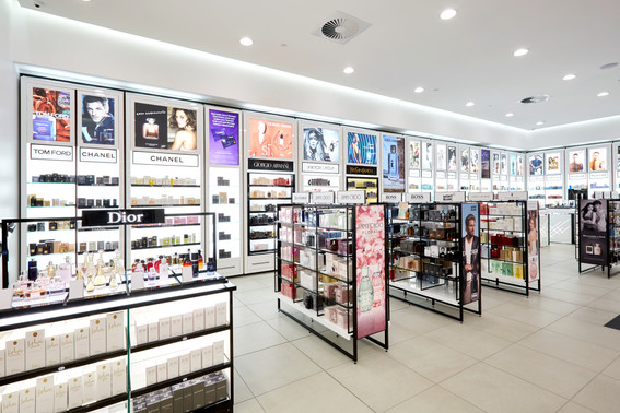 FARMERS FRAGRANCE GALLERY WALL AND GONDO