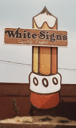 Sand Carved White Signs 1979