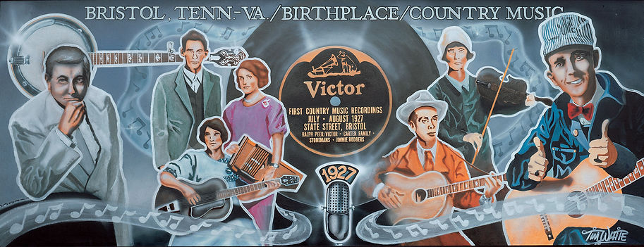 Birthplace of Country Music Mural by Tim White