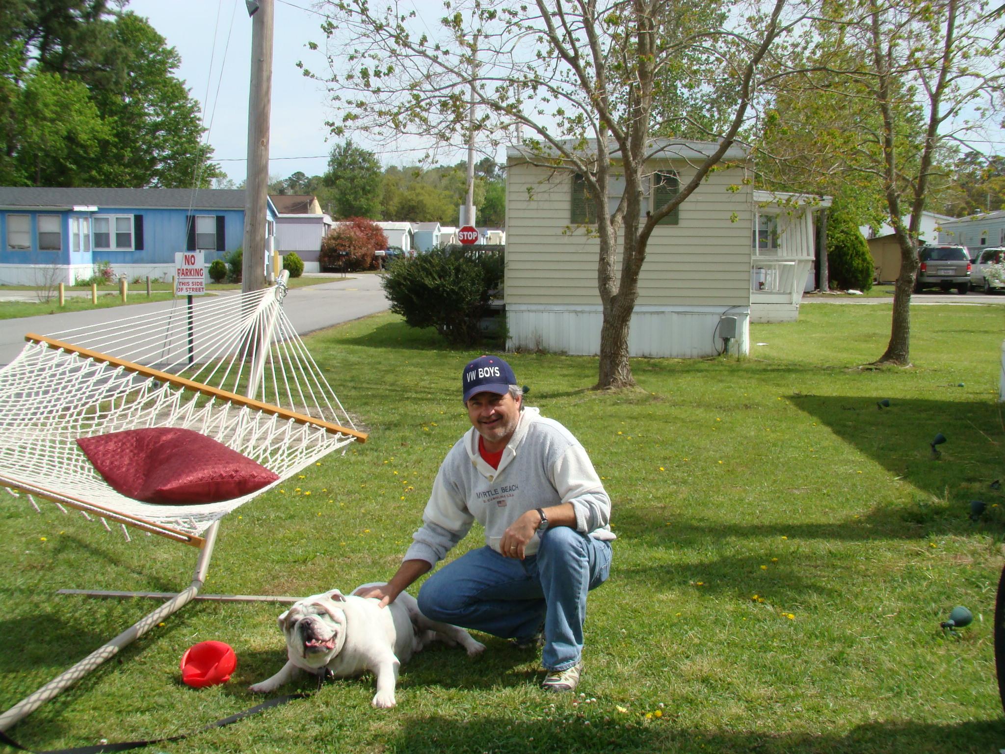 Tim White with Gus-Myrtle Manor 5-2013.JPG