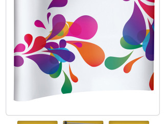 Say hello to this classy display option: The Pop Up Backdrop Magnet Curved