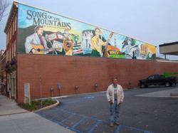 Tim White with the Marion Mural