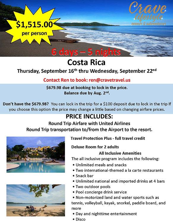 Crave Costa Rica Sept 16-22