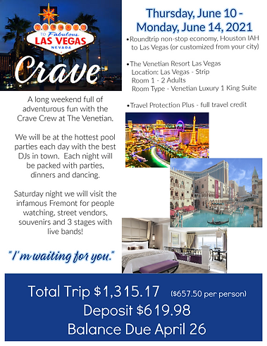 Crave Vegas June 10-14