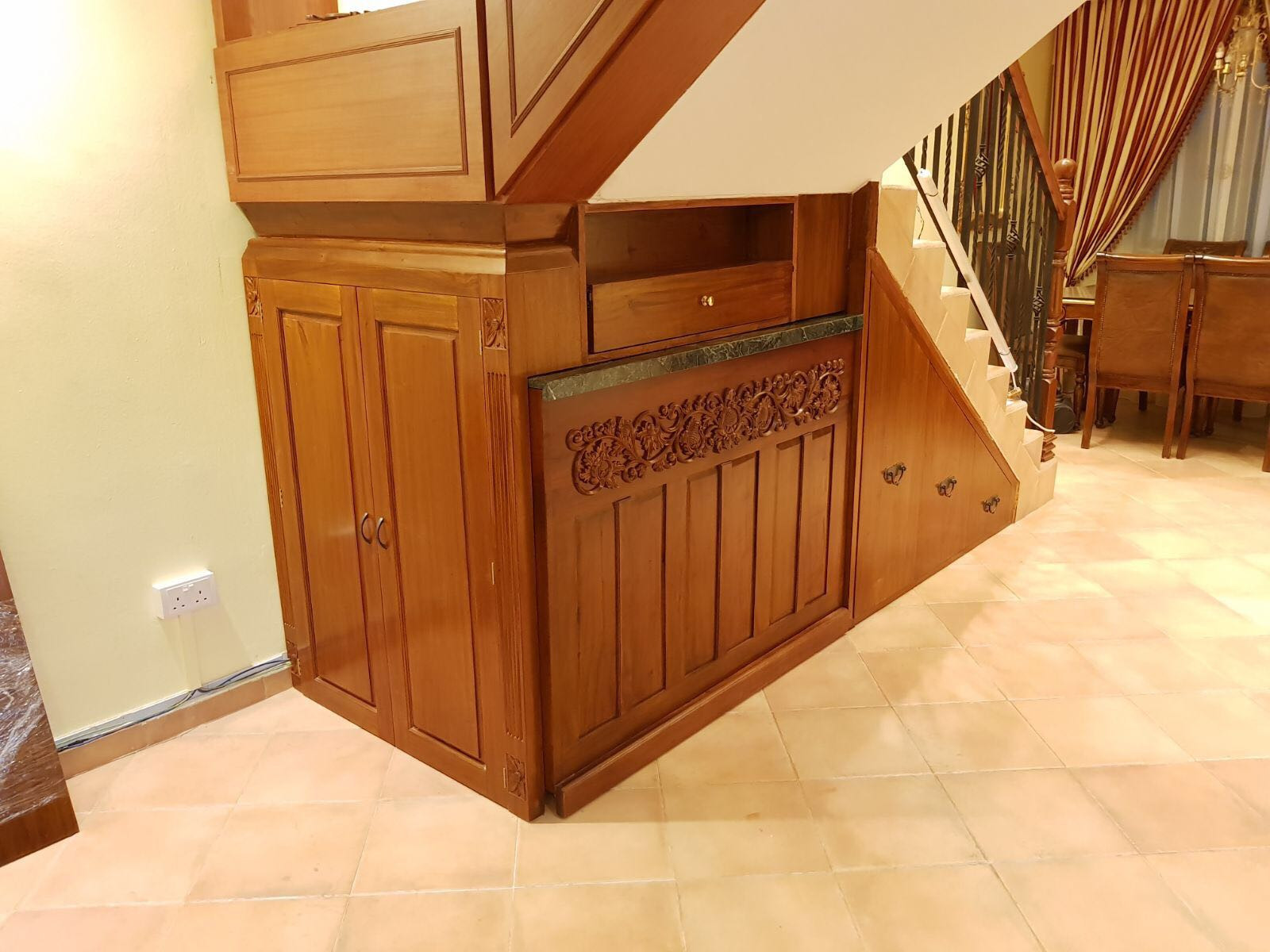 Mrs Lims Movable Bar Counter Stairs Fixture