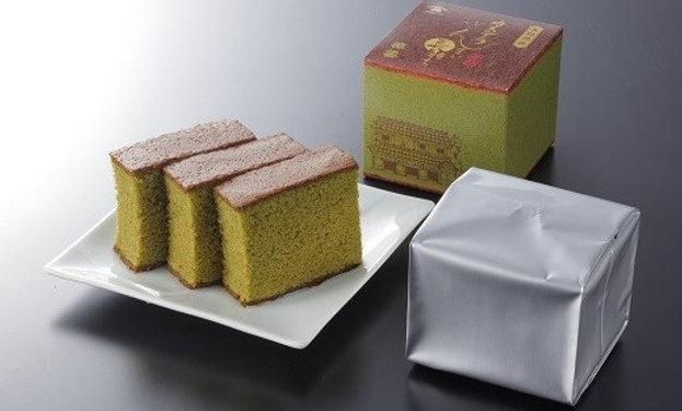 長崎菓秀苑抹茶味Castella Cake三件裝