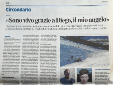 La provincia di Lecco 21 Marzo 2014: sono vivo grazie a Diego, il mio angelo