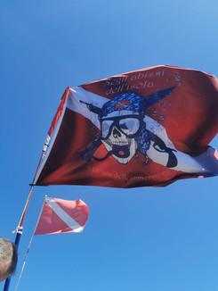Il Jolly Roger di Dep Bonnet il pirata d