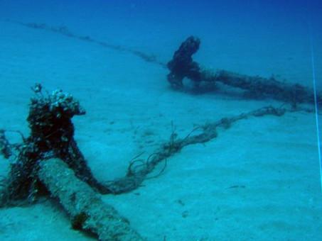 La scoperta del relitto sommerso di Isola Rossa - dal sito web di Luigi Bini