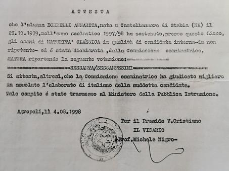 Le parole di Annarita Borrelli arrivano al Ministro della Pubblica Istruzione Luigi Berlinguer
