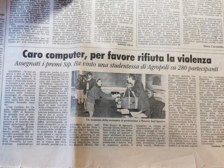Caro computer, per favore rifiuta la violenza. Vince Annarita Borrelli