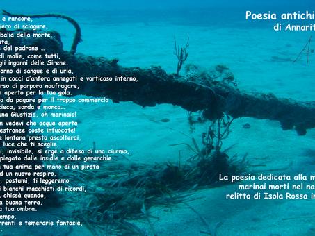 Poesia Antichi Marinai di Annarita Borrelli dedicata al ritrovamento archeologico di Diego Crippa