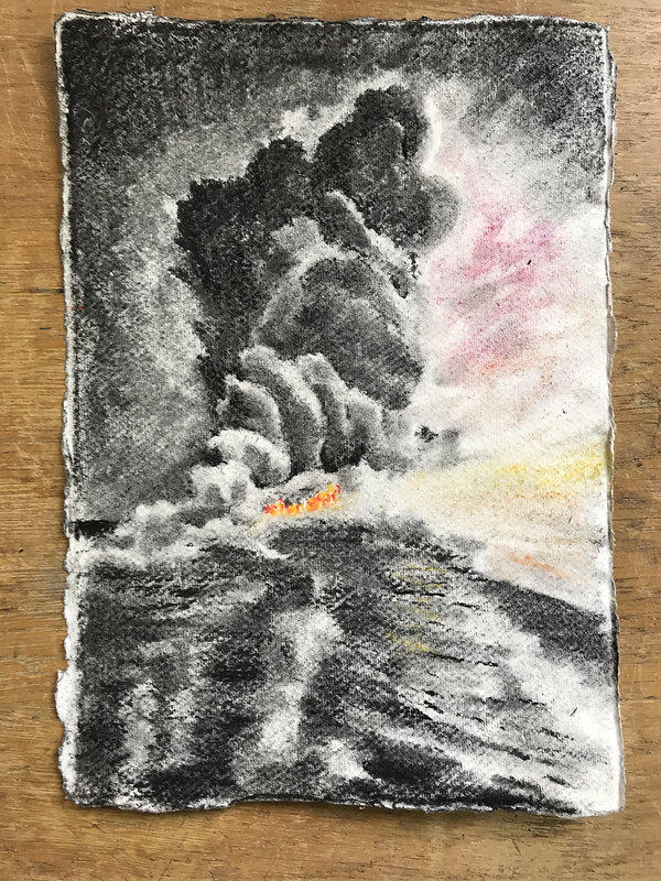 Seascape+III-+Stuart+Jones-+charcoal+and