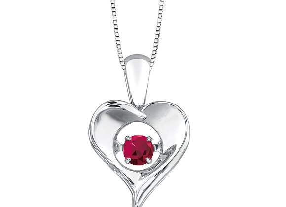 PULSE - Genuine Birthstone Silver Pendant