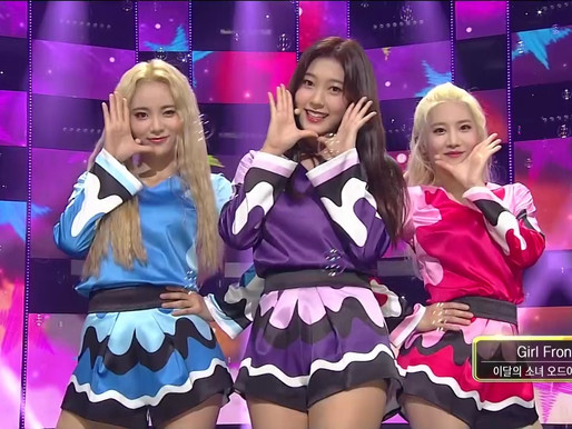 2017.10.08. Inkigayo LOONA ODD EYE CIRCLE - Girl Front