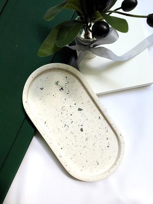 pill tray: terrazzo white
