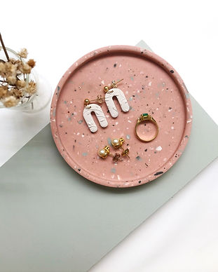 jesmonite trinket tray coaster
