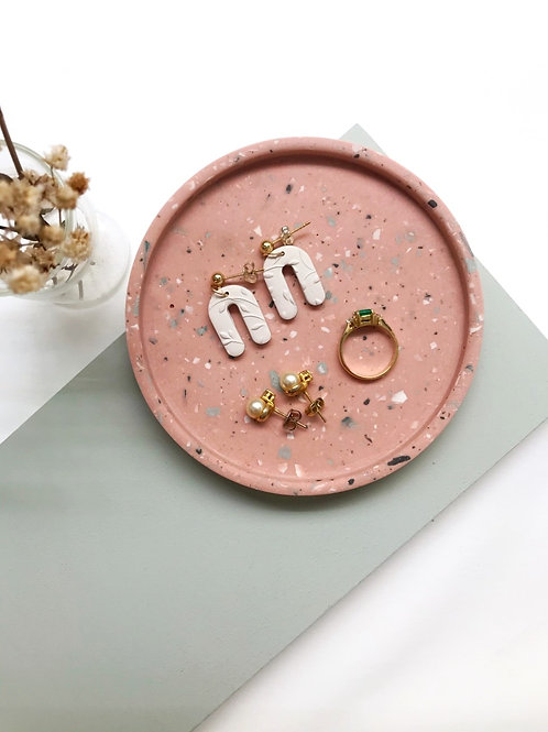 jewelry dish: terrazzo (dusty pink)