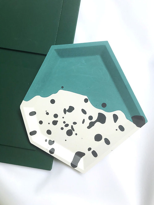hex dish: teal