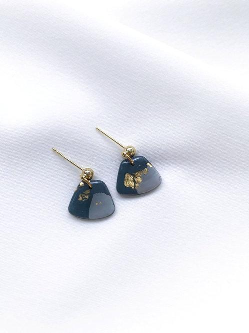 deep teal & gold (mini trapezoid)