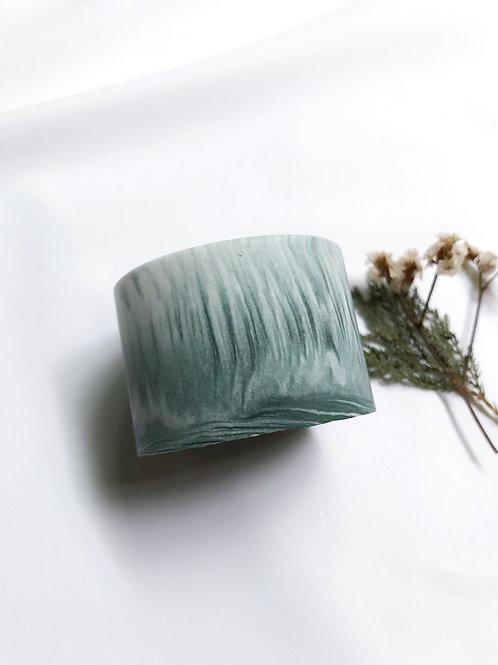 little pots: marbling [green]