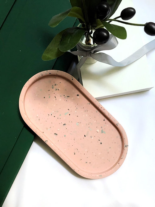 pill tray: terrazzo pink