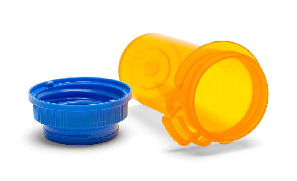 Empty pill bottle.