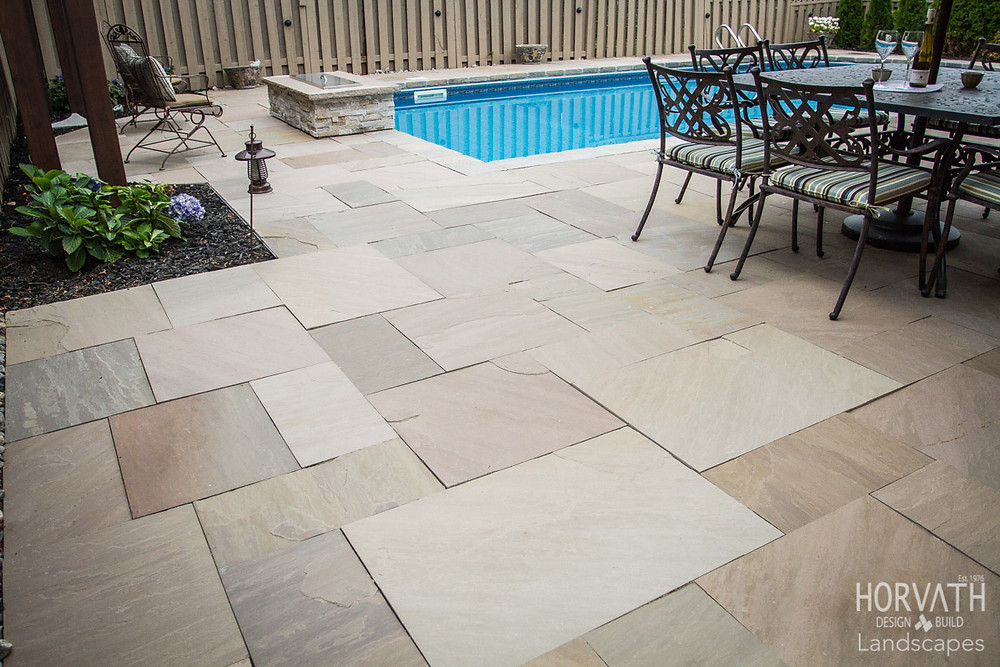 Patio Pavers Slate Grey from India are some of the most popular materials being used. They are durable, functional, safe and easy to repair.