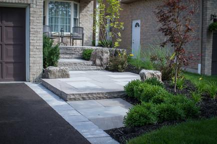 Horvath design & build landscapes - front entrance-2005.jpg
