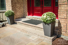 Front Entrance with Natural Stone Door Sill