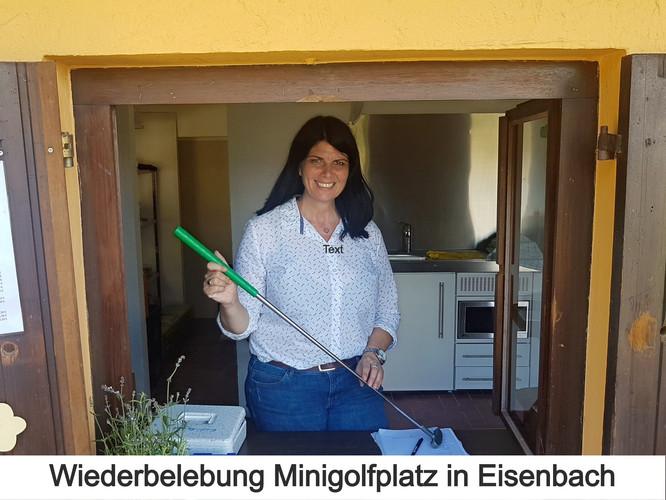 Wiederbelebung Minigolfplatz in Eisenbach