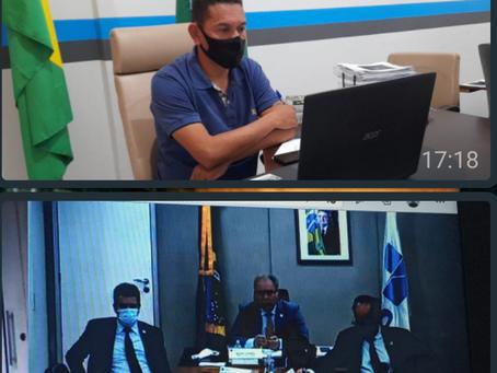 Prefeito Jerry participa de reunião online com Ministro da Saúde
