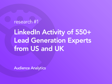 How Researching LinkedIn Activities of 578 Lead Generation Experts led us to a 62% Answer Rate