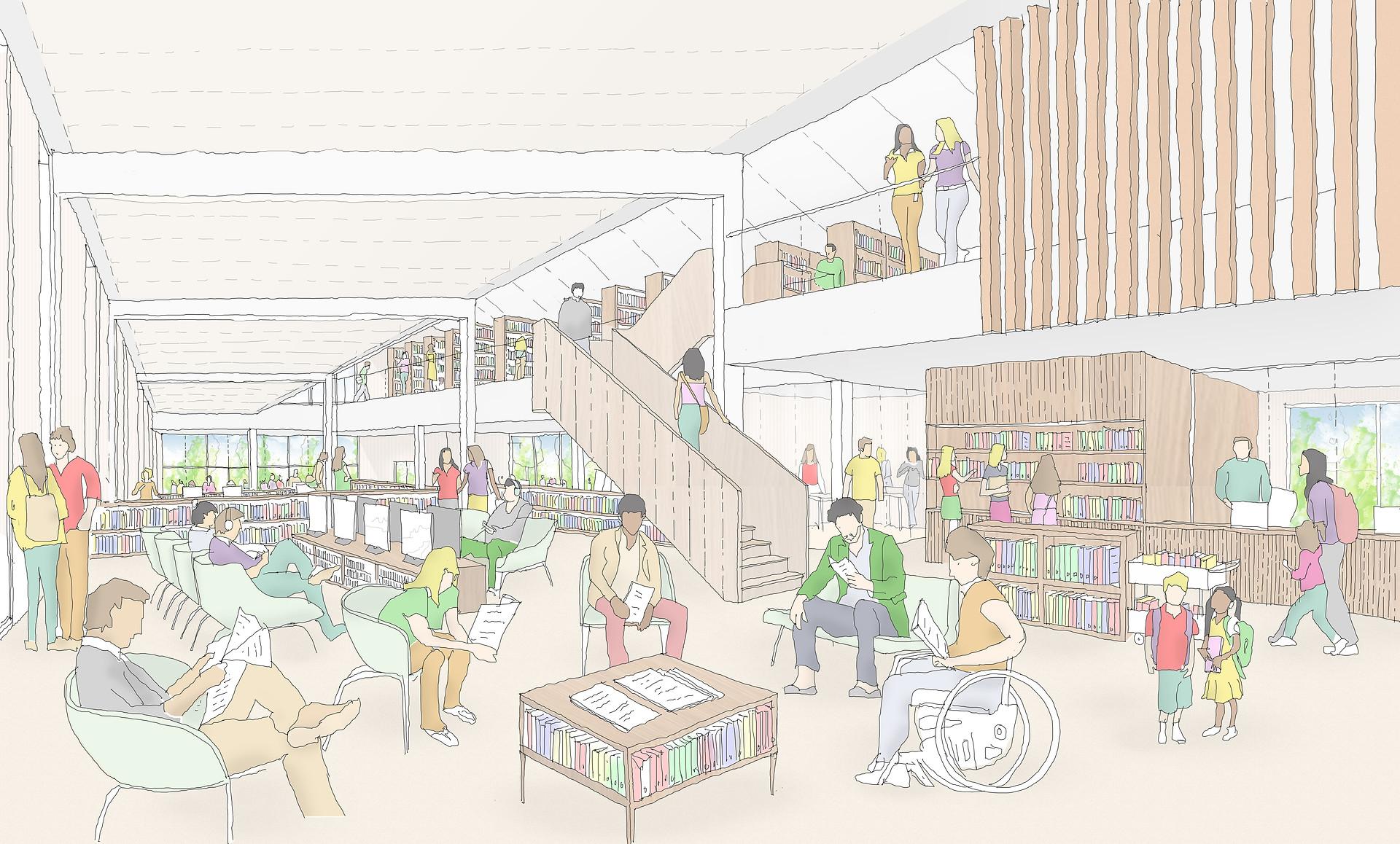 AMAC estudio-concurso biblioteca-vista i