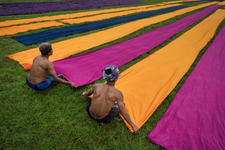 Drying the cloth
