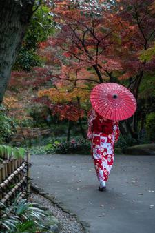 Japanese lady with umbrella