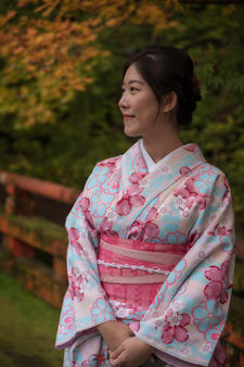 Portrait of Japanese lady