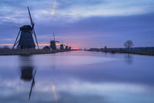 Kinderdijk on an early morning