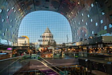 Modern market in Rotterdam