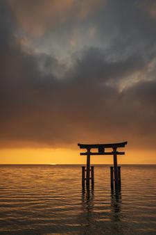 Sunrise at Lake Biwa