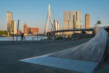 Leading to the Erasmus bridge