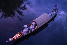 Procession on the river