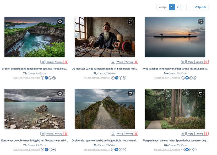Online shop for prints (Anges van der Logt Photography)