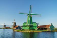 The old windmills in the Zaanse Schans