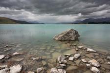 A very gloomy afternoon at Lake Tekapo